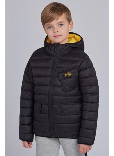 Barbour Erkek Çocuk Ouston Hooded Mont Bk92 Black Yellow Siyah